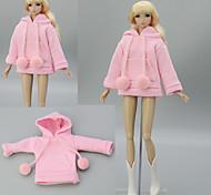 abordables -Manteau de poupée Hauts Pour Barbie Rose Satin Elastique Polyester / Coton Dentelle Haut Pour Fille de Jouets DIY  / Enfants