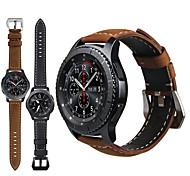 economico -Cinturino intelligente per Samsung Galaxy 1 pcs Cinturino sportivo Chiusura classica Vera pelle Sostituzione Custodia con cinturino a strappo per Gear S3 Frontier Gear S3 Classic Samsung Galaxy Watch
