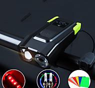 abordables -LED Eclairage de Velo Kit Eclairage Bicyclette Vélo Rechargeable Eclairage de Vélo Avant Lumière de corne de vélo VTT Vélo tout terrain Vélo Cyclisme Imperméable Modes multiples Induction / IPX 6