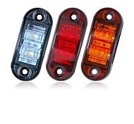 abordables -sencart 2pcs 12v 24v ambre jaune blanc rouge dsside lumière led marqueur remorque camion tourner la lampe de clairance