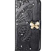 economico -telefono Custodia Per Samsung Galaxy Integrale Custodia in pelle A7 A10 A30 A50 A20 A40 A90 A70 Galaxy A2 Core Galaxy A20e A portafoglio Porta-carte di credito Con diamantini Farfalla Floreale Morbido