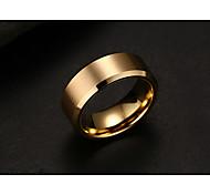 economico -Anello a fascia Nero Oro Argento Acciaio al titanio Di tendenza Stile semplice ingegneria 7 8 9 10 11 / Per uomo