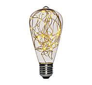 abordables -1 pc 3 W Ampoules à Filament LED 200-300 lm E26 / E27 ST64 25 Perles LED SMD Décorative Décoration de mariage de Noël Lumière de fil de cuivre Blanc Chaud 85-265 V