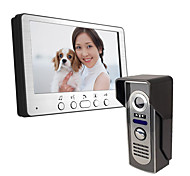 abordables -ultra-mince 7 pouces filaire vidéo sonnette 815m11 hd villa interphone vidéo unité extérieure nuit vision pluie déverrouiller la fonction