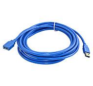 abordables -3m de vitesse rapide usb 3.0 rallonge câble usb mâle à femelle câble de synchronisation de données