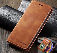 economico -telefono Custodia Per Apple Integrale Custodia in pelle Porta carte di credito iPhone 12 Pro Max 11 SE 2020 X XR XS Max 8 7 6 A portafoglio Porta-carte di credito Resistente agli urti Tinta unita