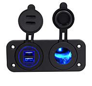 economico -caricabatteria da auto impermeabile con montaggio a pannello dual usb 5v 2.1a con strumento di refit per auto leggero
