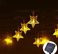 economico -LOENDE 5m Fili luminosi 20 LED LED Dip Bianco caldo Colori primari Bianco Impermeabile Solare Feste Ad energia solare
