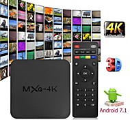 abordables -mxq 4k android 7.1 2.4g wifi dlna smart tv box rk3229 quad core 1g + 8g décodeur lecteur multimédia