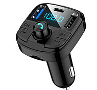 abordables -MUZILI BT29 Bluetooth 5.0 Kit voiture Bluetooth Mains libres de voiture Bluetooth / Protection contre les surintensités / QC 2.0 Automatique