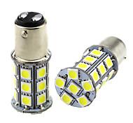 economico -2 pz 1157 bay15d led auto lampadine 3 w 24 v smd 5050 27 ha condotto la lampada per indicatori di direzione luce fendinebbia luce posteriore fanale posteriore fendinebbia