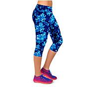 abordables -Femme Taille haute Pantalon de yoga Jambières Capri Contrôle du Ventre Lifting des fesses Bleu marine Aptitude Exercice Physique Fonctionnement Eté Des sports Tenues de Sport Haute élasticité Slim
