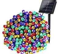 abordables -1 pack guirlandes solaires guirlandes d'extérieur 10m 100led 20m 200led 8 modes lumières extérieures de Noël à énergie solaire étanches guirlandes de Noël étoilées pour jardins intérieurs maisons