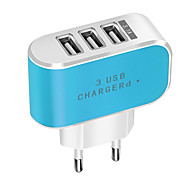 cheap -Candy Color 3 USB Charger Travel Wall Charger Adapter Smart Mobile Phone Power Supply Charger for Tablets