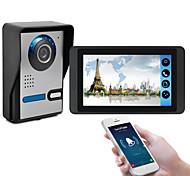 economico -618fa117 pollici touch screen capacitivo videocamera cablata video campanello wifi / 3g / 4g chiamata a distanza di sblocco di stoccaggio citofono visivo one to one