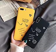 economico -telefono Custodia Per Apple Per retro iPhone XR iPhone XS Max iPhone X iPhone 8 Plus iPhone 8 iPhone 7 Plus iPhone 7 iPhone 6s Plus iPhone 6s iPhone 6 Plus Effetto ghiaccio Fantasia / disegno Frasi