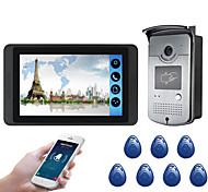 economico -618mjids11 7 pollici touch screen capacitivo videocamera cablata video campanello wifi / 3g / 4g chiamata a distanza di sblocco di stoccaggio macchina esterna funzione carta