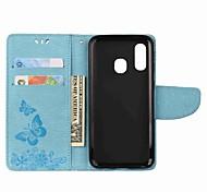 economico -telefono Custodia Per Samsung Galaxy Integrale Custodia in pelle Custodia flip A6 (2018) A6+ (2018) A3 A5 A7 (2017) A8 2018 A8+ 2018 A7 Galaxy A9 (2018) A30 A portafoglio Porta-carte di credito Con