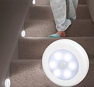 abordables -4pcs longe hockey induction lumière installation libre magnétique pâte plancher cabinet rond contrôle de la lumière yeux alimentation nuit lumière