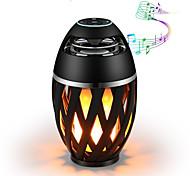 economico -1pc bluetooth speaker usb led luci di fiamma esterna portatile led atmosfera di fiamma lampada altoparlante stereo outdoor woofer da campeggio mini