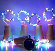 economico -led tappo di bottiglia solare luci stringa di sughero vino rame 2 m 20 led luci stringa filo 10 pz lampade fata matrimonio all'aperto banchetto di compleanno decorazione del partito
