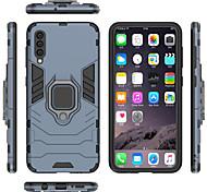 economico -telefono Custodia Per Samsung Galaxy Integrale A8 2018 A8+ 2018 A7 Galaxy A9 (2018) A10 A30 A50 A20 A40 A70 Supporto ad anello Armatura Tinta unica Armatura Resistente PC