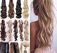 abordables -Extension à clip Queue-de-cheval / Pièce de cheveux Fibre résistant à la chaleur de haute qualité Pièce de cheveux Extension des cheveux Ondulation naturelle 55 cm Quotidien / Usage quotidien
