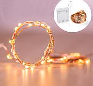 economico -LOENDE 2m Fili luminosi 20 LED Bianco caldo Colori primari Bianco Feste Decorativo Decorazione di nozze di Natale Batterie alimentate