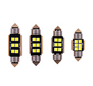 abordables -10pcs voiture c5w led 31 36 39 41mm lumière intérieure 3030 puces led feston ampoule voiture dôme canbus aucune erreur auto lampe de lecture intérieure