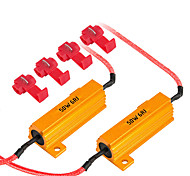 abordables -2pcs 50w résistances de charge décodeur led ampoule flash erreur rapide annulation de câblage pour la voiture led clignotant drl antibrouillard