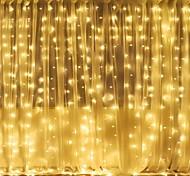 abordables -Noël décoration de mariage lumières 3mx2m 240leds blanc chaud blanc multicolore lumière chambre maison intérieur extérieur décor rideau guirlande lumineuse
