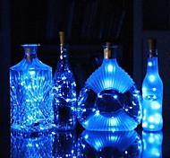 economico -0,75 m Fili luminosi 15 LED SMD 0603 1pc Bianco caldo Bianco Multicolore Impermeabile Decorativo Matrimonio Batterie alimentate / IP65