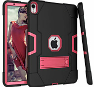 economico -telefono Custodia Per Apple Per retro iPad Air iPad 4/3/2 iPad (2018) iPad Air 2 iPad (2017) Con supporto Tinta unita Resistente Gel di silice