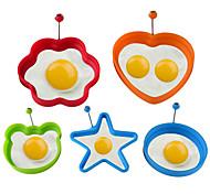 abordables -silicone oeuf au plat crêpe anneau omelette oeufs au plat rond coeur en forme de fleur oeufs moule pour la cuisson des outils de petit déjeuner