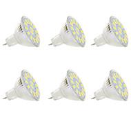 abordables -6pcs 5 W Spot LED 300 lm MR11 MR11 15 Perles LED SMD 5730 Blanc Chaud Blanc 9-30 V