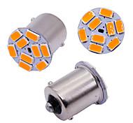 abordables -10pcs voiture s25 1156 ba15s p21w 5630 9 ampoules smd pour le côté de la voiture lampe témoin clignotants s'allume feu de freinage orange blanc 12v