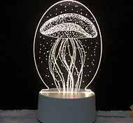 abordables -3d led table lumineuse méduse chouette nuit lightcat licorne tour eiffel lampe pour chambre des enfants