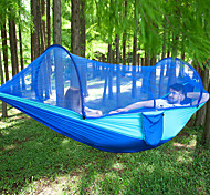 abordables -Hamac de camping avec moustiquaire escamotable Extérieur Poids Léger Respirable Anti-Moustique Ultra léger (UL) Nylon Parachute avec mousquetons et sangles pour 2 personne Camping / Randonnée Chasse