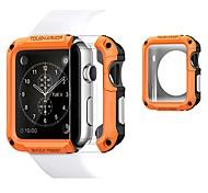 economico -Custodie Per Apple  iWatch Apple Watch Serie SE / 6/5/4/3/2/1 TPU / Plastica Proteggi Schermo Custodia per Smartwatch  Compatibilità 38 millimetri 40 mm 42 millimetri 44mm