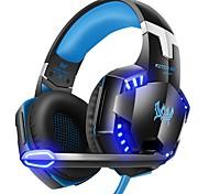 economico -Cuffie da gioco stereo da computer g2000 Cuffie auricolari da gioco deep casque più profonde con microfono a luce led per pc gamer