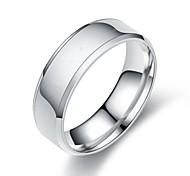 economico -Band Ring Nero Oro Argento Acciaio al titanio Semplice Essenziale 1pc 5 6 7 8 9 / Per donna / Per uomo / Anello