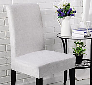 abordables -Housse de chaise Moderne Teinture Polyester Literie