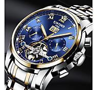 economico -KINYUED Per uomo Orologio scheletro orologio meccanico Carica automatica Lusso Calendario Data del giorno / Acciaio inossidabile