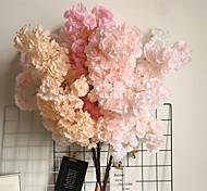 abordables -arrangement fleur de cerisier fleur de pêcher simulation de la mer fleur faux fleur décoration de la maison bouquet de mariage 1 branche