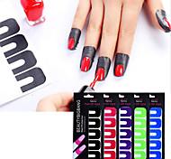 economico -protezione per smalto per unghie in plastica - 10 fogli 100 pezzi adesivi staccabili usa e getta per la nail art che timbra lo strumento per manicure