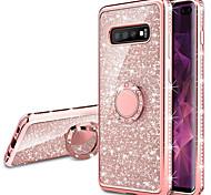economico -telefono Custodia Per Samsung Galaxy Per retro S9 S9 Plus S8 Plus S8 Bordo S7 S7 S10 S10 + Galaxy S10 E Galaxy S10 5G Resistente agli urti Con supporto Placcato Glitterato Morbido TPU
