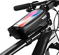 economico -WILD MAN Bag Cell Phone Marsupio triangolare da telaio bici 6.2 pollice Schermo touch Ompermeabile Resistente all'acqua Ciclismo per iPhone 8 Plus / 7 Plus / 6S Plus / 6 Plus iPhone X Nero Nero