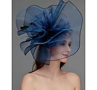 economico -A rete fascinators / Copricapo / Accessori per capelli con Piume / Floreale / Intagli 1 pezzo Matrimonio / Occasioni speciali / Tè Copricapo