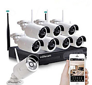 economico -8ch 720p hd cctv camera wireless nvr kit security system wifi ip kit