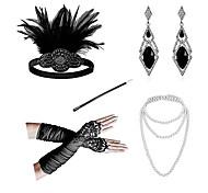 abordables -Bandeaux Boucles d'Oreille Collier de perles Tenue Années 1920 Alliage Pour Gatsby le magnifique Cosplay Femme Bijoux de fantaisie Bijoux fantaisie / Gants